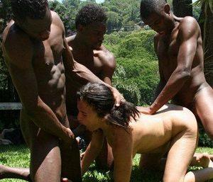 Групповой секс аборигенов